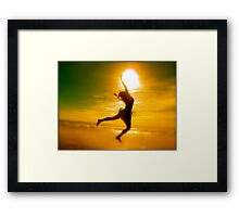 Playing With rhe Sun Framed Print