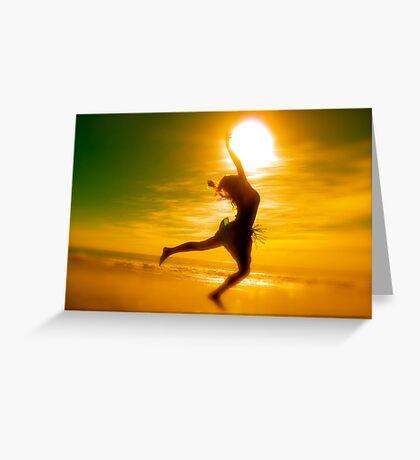 Playing With rhe Sun Greeting Card