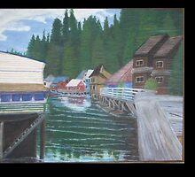 Downtown Ketchican Alaska by Dbutrflys