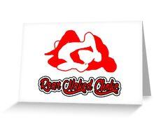 Rear Naked Choke Mixed Martial Arts Red 2 Greeting Card