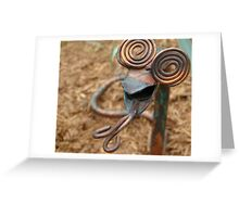 Copper-Headed Garden Greet Greeting Card