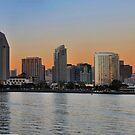 San Diego Skyline Panorama by Eddie Yerkish
