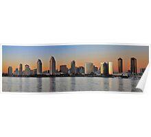 San Diego Skyline Panorama Poster