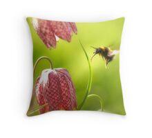 Fritillary Bee Throw Pillow