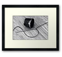 Needle point Framed Print