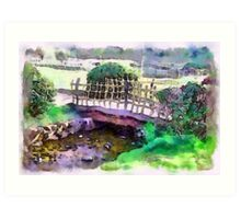 The Zen Garden Bridge Art Print