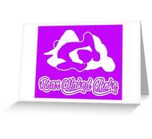 Rear Naked Choke Mixed Martial Arts White 2 Greeting Card
