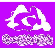 Rear Naked Choke Mixed Martial Arts White 2 Photographic Print