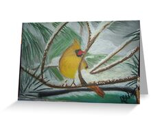Sittin' in the Snowy Trees Greeting Card