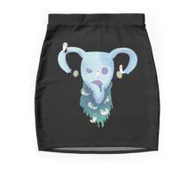 Pastel Goth Zombie Uterus Mini Skirt