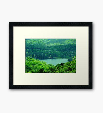Hidden Mountain Lake Framed Print