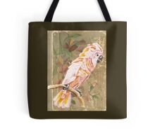 Pink Cockatoo Bird Antique Book Tote Bag