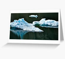 Ice bergs Greeting Card