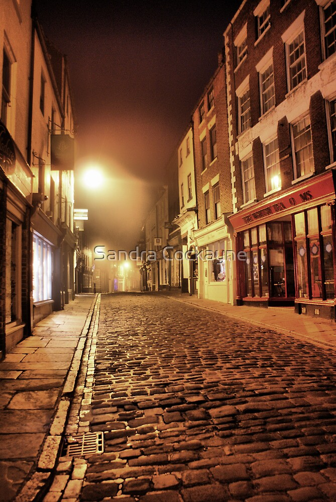 Whitby Back Alley @  4.a.m. by Sandra Cockayne