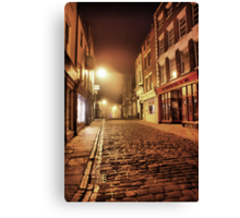 Whitby Back Alley @  4.a.m. Canvas Print