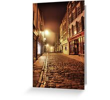 Whitby Back Alley @  4.a.m. Greeting Card