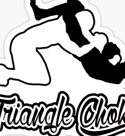Triangle Choke Mixed Martial Arts Black  Sticker