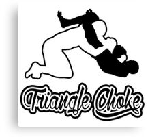 Triangle Choke Mixed Martial Arts Black  Canvas Print
