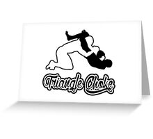 Triangle Choke Mixed Martial Arts Black  Greeting Card