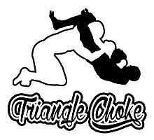 Triangle Choke Mixed Martial Arts Black  Photographic Print