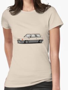Fiat Panda 141 Slammed Womens Fitted T-Shirt