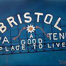 Bristol Sign Bristol VA TENN by Scott Plaster