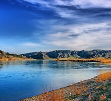 calm river and cloudy sky by Medeu