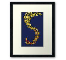 Autumn Leaf Dragon Tail Framed Print