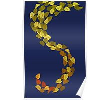 Autumn Leaf Dragon Tail Poster