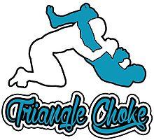 Triangle Choke Mixed Martial Arts Blue  by yin888