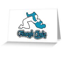 Triangle Choke Mixed Martial Arts Blue  Greeting Card