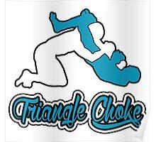 Triangle Choke Mixed Martial Arts Blue  Poster