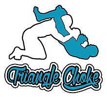 Triangle Choke Mixed Martial Arts Blue  Photographic Print
