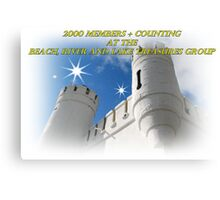 2000 members banner Canvas Print