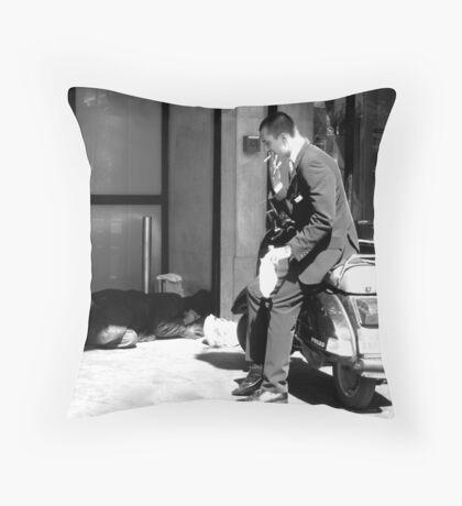 Rich man - Poor man 2 Throw Pillow