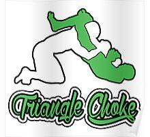 Triangle Choke Mixed Martial Arts Green  Poster