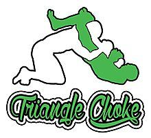Triangle Choke Mixed Martial Arts Green  Photographic Print