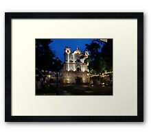San Cristobal de las Casas- church at twilight Framed Print