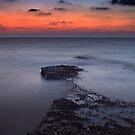 Rocky Shores Of Agios Georgios by Aj Finan