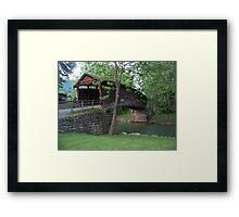The Humpback Covered Bridge Framed Print