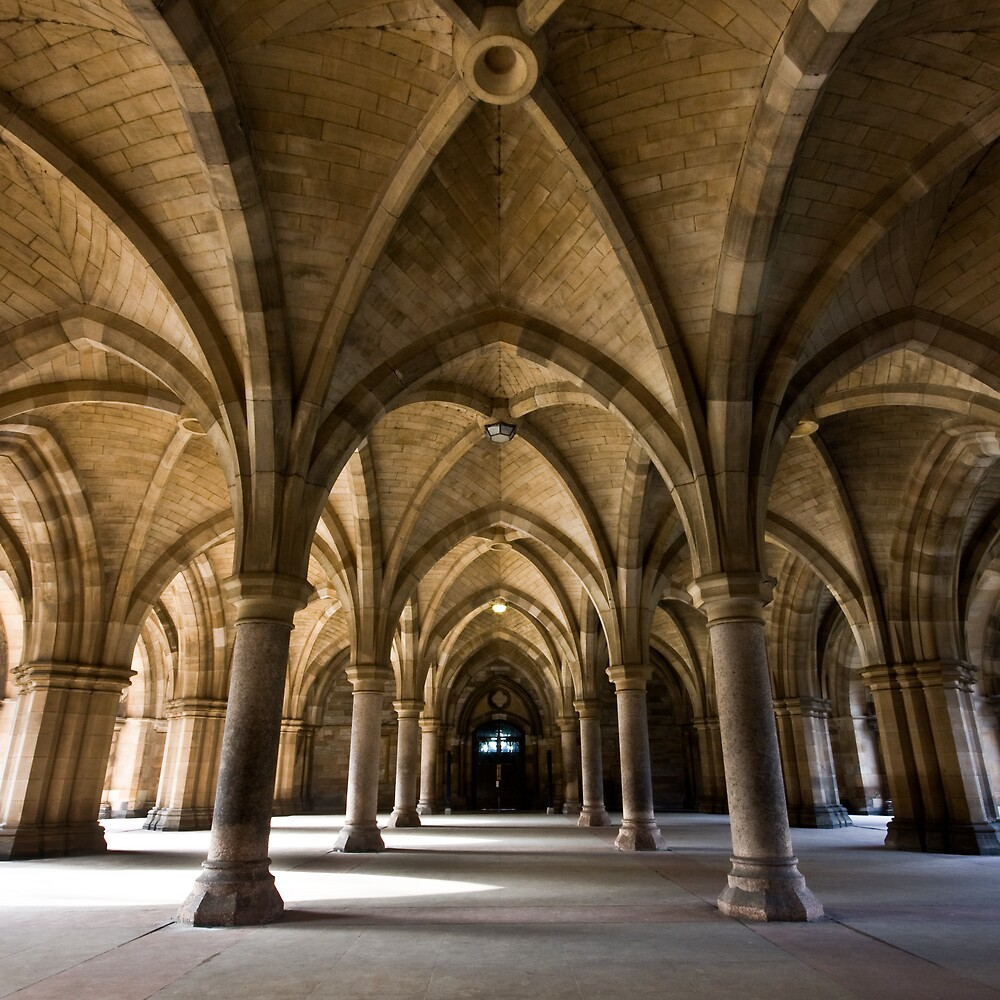 Glasgow University Cloisters by southsideimages