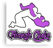 Triangle Choke Mixed Martial Arts Purple  Canvas Print