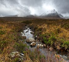Stream and mountains, Rannoch Moor by Gary Eason