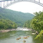 New River Gorge Bridge - WV by searchlight
