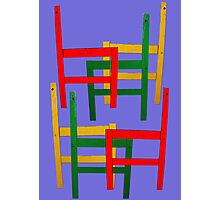 Multi Coloured Chair Frames Photographic Print
