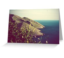 Mountains and sea of Mani in balance Greeting Card