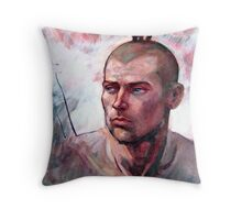 Portrait of Ben, oil painting on stretched canvas Throw Pillow