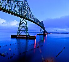 Astoria Bridge at night by Carl LaCasse