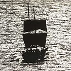Sailship silhouette by jozi1