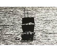 Sailship silhouette Photographic Print
